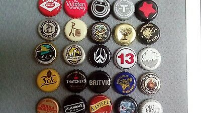 Bottle caps beer etc mixed set of 25 #5