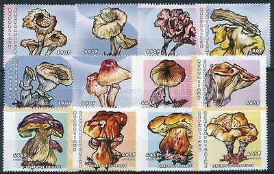 Central African Republic stamp Mushroom set MNH 2001 Mi 2642-2653 WS227159