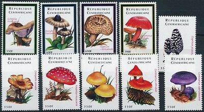 Central Africa Republic stamp Mushroom set MNH 2001 Mi 2762-2771 WS227750