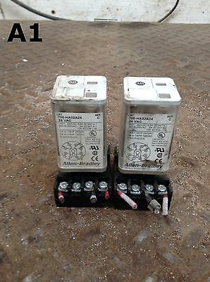 Allen-Bradley 700-HA32A24 Series C Ice Cube Relay and Socket 24VDC -lot of 2