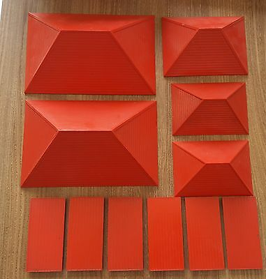 Bayko Red Roofs , Flat Roofs, 11 Pieces