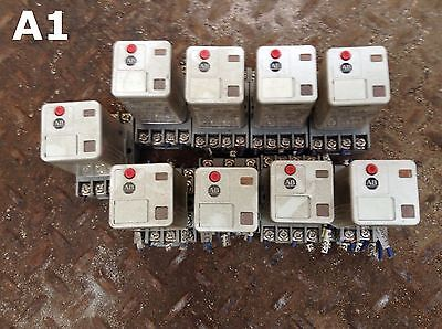 Allen-Bradley 700-HA33Z24-1-4 Series B Ice Cube Relay and Socket 24VDC -lot of 9