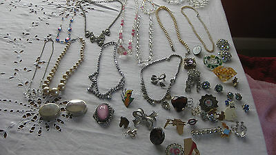 Mixed lot vintage & modern costume & Silver jewellery