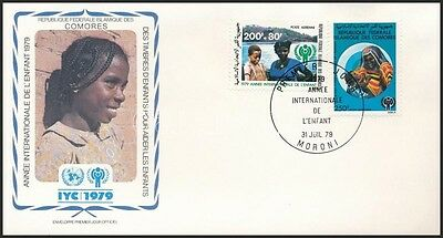 Comoroes stamp International Childrens Year set FDC Cover 1979 WS232036