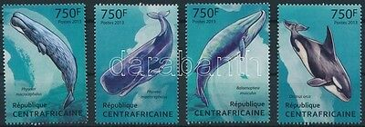 Central Africa Republic stamp Whales set MNH 4131-4134 WS232202