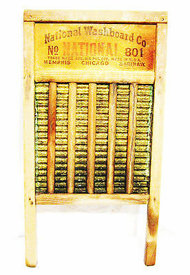 Antique Brass National Washboard Co. Top Notch - The Brass King No 801 - USA