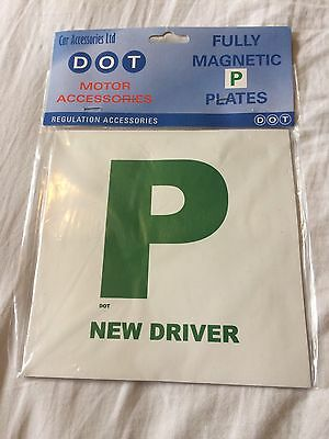 Fully Magnetic P Plates Brand New