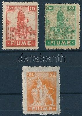 Fiume stamp 3 definitive values MNH 1919 Mi 35, 37, 41 WS233839