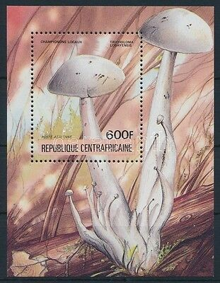 Central African Republic stamp Mushrooms block MNH 1984 Mi 290 A WS234092