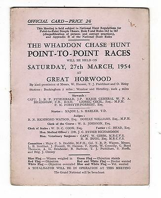 Whaddon Chase Hunt Point-To-Point Races, Great Horwood, March 1954