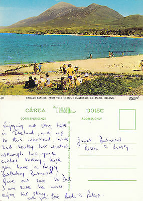 1990's CROAGH PATRICK LOUISBURGH COUNTY MAYO IRELAND COLOUR POSTCARD