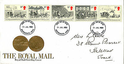 31 July 1984 Royal Mail Coaches Royal Mail First Day Cover Bournemouth Poole Fdi