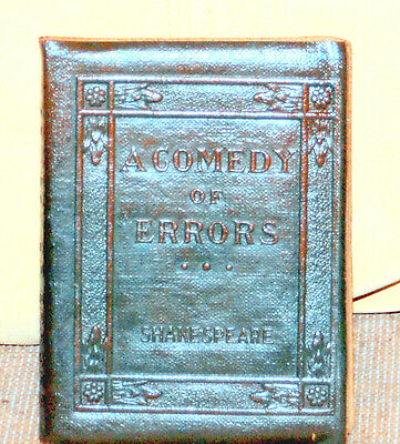 """Rare Little Leather Library """"A Comedy of Errors"""" by William Shakespeare"""