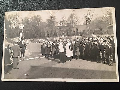 Unidentified War Memorial Unveiling Ceremony Card Number 4