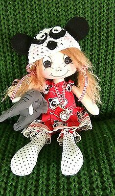 Handmade Cloth Rag Doll, Anna, 12inc, OOAK Collectable by Bianca