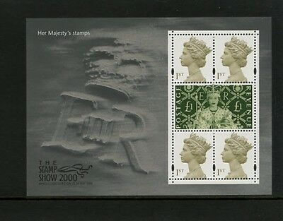 GB 2000 Her Majesty's Stamps (Stamp Show) Miniature Sheet MNH
