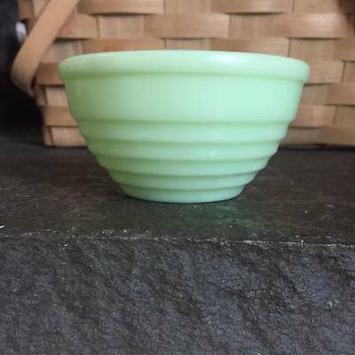 """Original Jeanette Glass Jadite Jadeite Small Mixing Bowl Concentric Rings 5 1/2"""""""