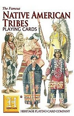 Native American Tribes set of 52 playing cards + jokers (hpc)