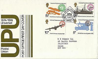 12 June 1974 Universal Postal Union Post Office First Day Cover Bureau Shs