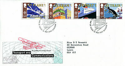 10 MAY 1988 TRANSPORT & COMMUNICATION ROYAL MAIL FIRST DAY COVER GLASGOW SHS (w)