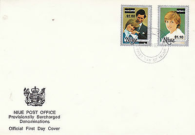 Niue 30 November 1983 Royal Wedding Revalued Pair On Official First Day Cover