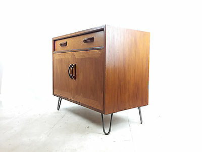 Teak G Plan Cabinet Danish Influence Mid Century Unit + Hairpin Legs