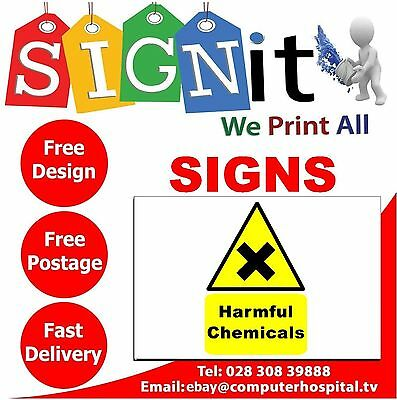 Harmful Chemicals Sign, Sticker, Correx Plastic Or Aluminium Sign - J007