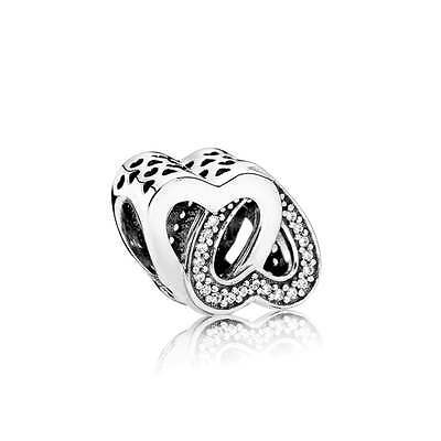 New Genuine 925 Sterling Silver PANDORA Entwined Love Charm