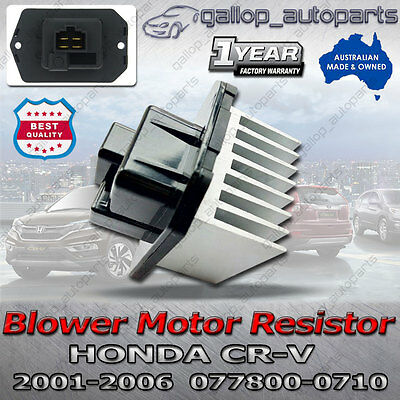 Blower Motor Heater Fan Resistor for Honda CRV 2001-2006 8 Fins 077800-0710