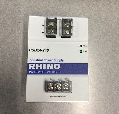 Rhino PSB24-240 Industrial Power Supply 100-240V 5A 50/60Hz
