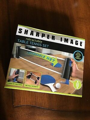 Sharper Image Retractable Table Tennis Set NEW