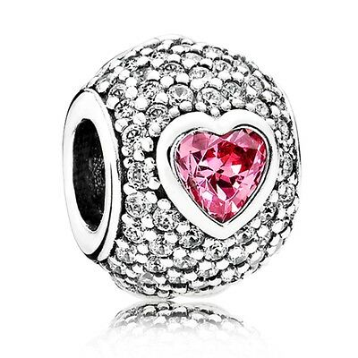 New Genuine 925 Sterling Silver PANDORA Captivating Pave Heart Charm