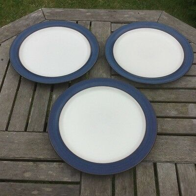 "3 Denby Pottery Boston 10¼"" / 26cm Dinner Plates"