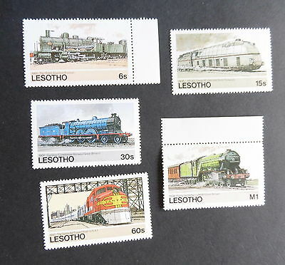 Lesotho 1984 Railways of the World SG605/9 MNH UM Unmounted mint never hinged