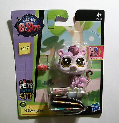 LITTLEST PET SHOP Pets In The City #117 MELLOWY LILACS Height 4.5cm