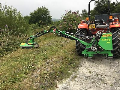 Tractor flail arm hedge cutter