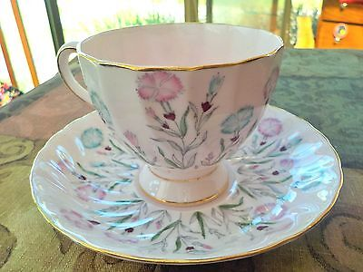 Beautiful Light Pink/floral Tuscan Fine Bone China Teacup/tea Cup/flowers