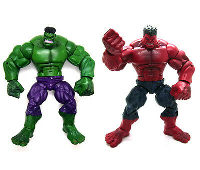 Marvel Legends The Avengers Incredible Hulk & Red Hulk Loose Action Figure Set
