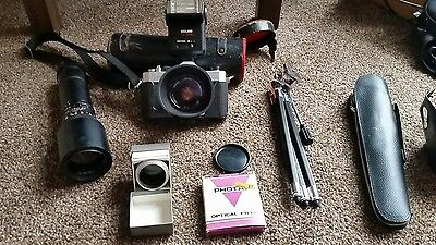 vintage yashica camera & accessories