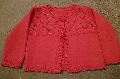 Baby Girl Pink Cardigan -  Size 6-9 Months