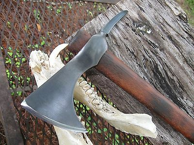 Blacksmith Hand  Forged---- ---  Bearded  .spike Tomahawk Camp Axe..hatchet