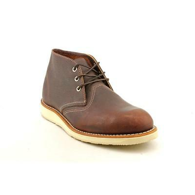 Red Wing Shoes Classic Work Chukka Men  Round Toe Leather Brown Chukka Boot