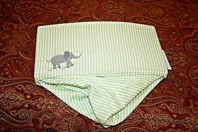FAO SCHWARZ folding storage bin baby crib diaper nursery elephant green stripe