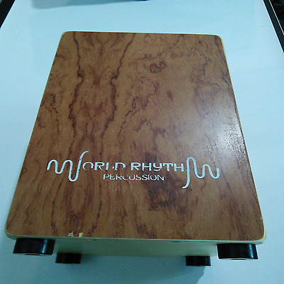 Ebay Item - World Rhythm Brown Sandalwood Cajon - Imperfections