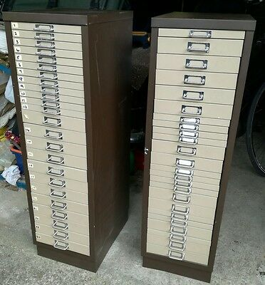 vintage mental filing cabinet drawers