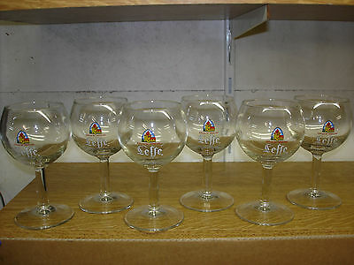 6 verres a bière galopin leffe 15cl neuf