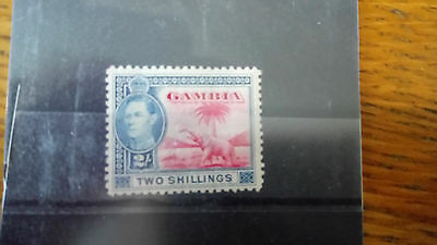 Gambia Stamp 2/- carmine and blue SG 157 mint British Commonwealth