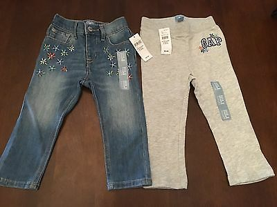 Baby Gap Girls Jeans And Sweatpants NWT Sz 18-24 Months