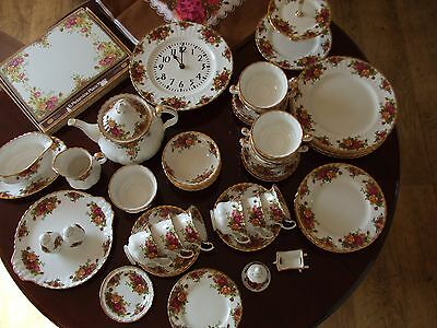 Royal Albert Old Country Roses. Every piece is in perfect condition.