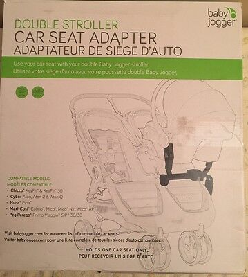 Baby Jogger Car Seat Adapter For Double Stroller Multi Model BJ90227
